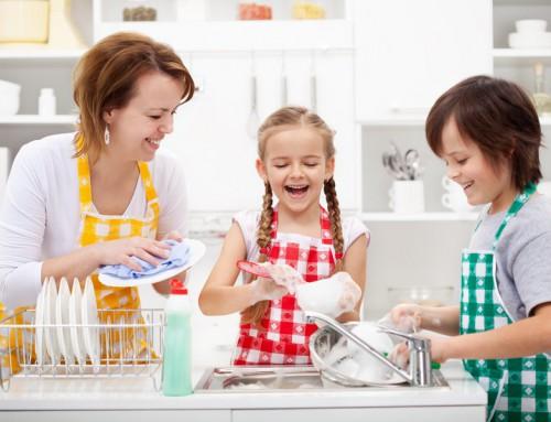 Tareas de casa para los niños.